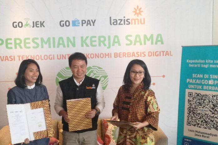 Dorong Sedekah Digital, Go-Jek Dan Go-Pay Gandeng Lazismu